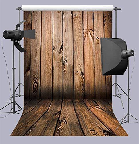 Qian Wooden Floor Studio Props Banner Baby Shower Photography Background Vinyl Photo Backdrop 5x7ft