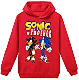 Silver Basic Niños 2D Impreso Sonic The Hedgehog Sudadera con Capucha Película Video Juego Sonic Cosplay Disfraz Sonic Shadow Sudadera Sonic Jumper 120,Rojo Sonic Shadow-2