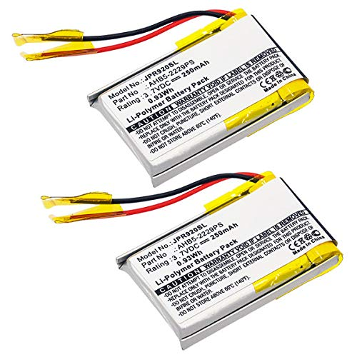 subtel 2X Qualitäts Akku kompatibel mit Jabra Pro 900, Pro 920, Pro 923, Pro 930, Pro 935, AHB5-2229PS 250mAh Ersatzakku Batterie