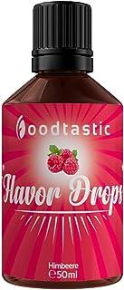 Foodtastic Flavor Drops Himbeere 50ml   Flavdrops Aroma Tropfen   kalorienfrei Süßen I ohne Zucker   Lebensmittelaroma Flavour Drops Flave Drops Geschmackstropfen
