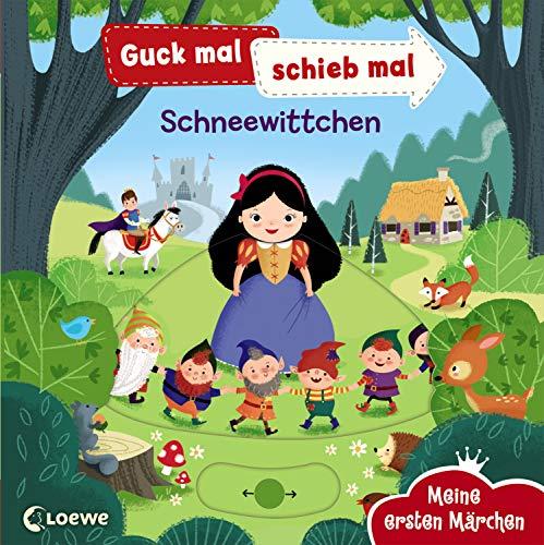 Guck mal, schieb mal! Meine ersten Märchen - Schneewittchen: Pappbilderbuch ab 2 Jahre