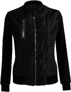 Women's Casual Zipper Jacket Long Sleeve Slim Fit Stand Collar Coat Outwear Tops