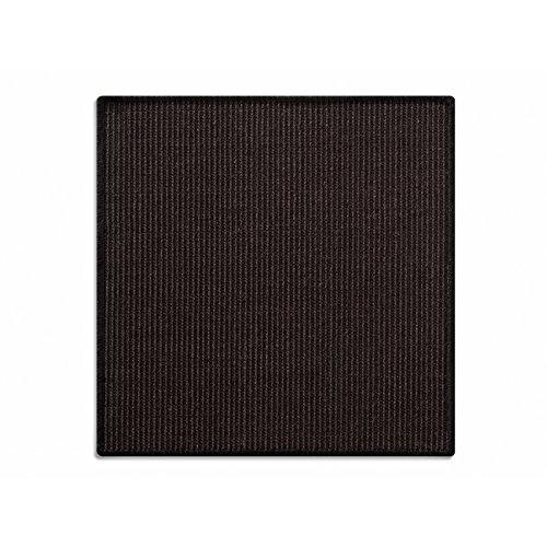 Floori® Sisal Kratzteppich | Naturfaser: nachhaltig und umweltfreundlich | Kratzmatte für die Krallenpflege Ihrer Katze | Schwarz, 100x100cm