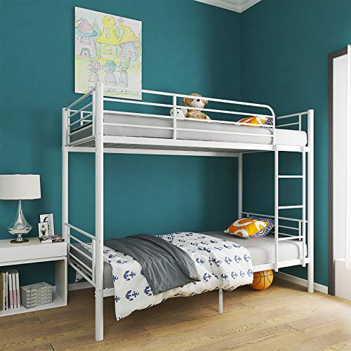 mecor Twin Over Twin Metal Bunk Bed / Sturdy Frame
