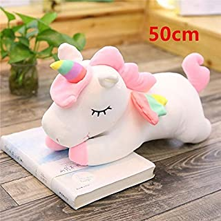 TREGIA 2019 Large Unicorn Plush Toys Cute Pink White Horse Soft Doll Stuffed Animal Big Toys for Children Birthday Gift U Must Have Friendship Gifts Favourite Movie Superhero Decorations
