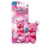 Areon Smile Désodorisant pour voiture Motif ours rose 3D à suspendre