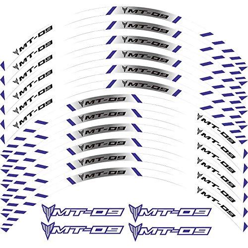 Un juego de 12 pegatinas reflectantes impermeables para ruedas de motocicleta (color: 3)