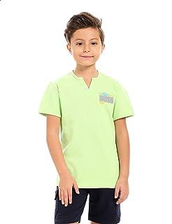 Andora Cotton V-Neck Contrast Trims T-shirt For Boys