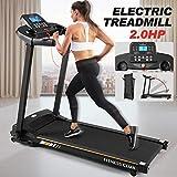 Fitnessclub Bluetooth Treadmill 1500 W Folding Electric Motorised Walking Running Exercise Fitness Machine Adjustable Incline Emergency System Hand Grip Pulse Sensor IPad & Cup Holder 12 Pre-Programs