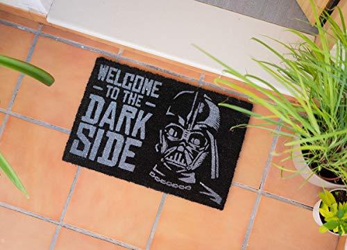 Felpudo Star Wars Welcome to the dark side - Felpudo entrada casa antideslizante 40 x 60 cm - Alfombra entrada casa exterior Star wars, Fabricado en fibra de coco - Productos con licencia oficial