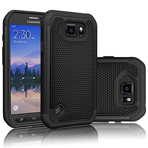 Galaxy S6 Active Case, Tekcoo(TM) [Tmajor Series] [Black/Black] Shock...