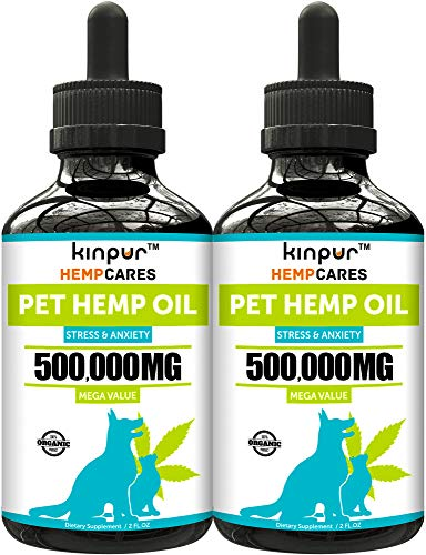 Kinpur (2 PACK | 500,000MG) Hemp Oil for Dogs &...