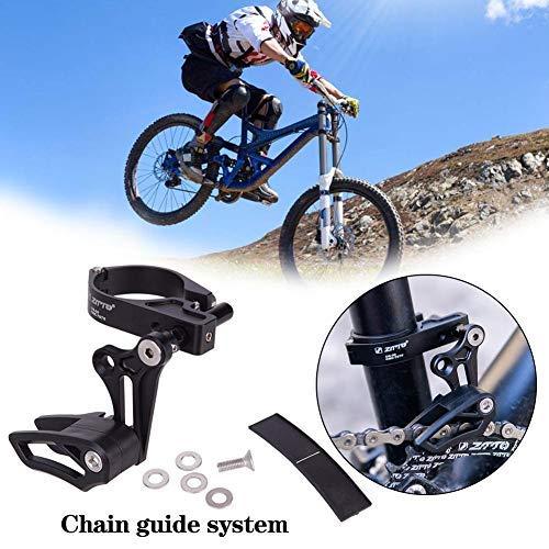 hinffinity Fahrrad-Kettenschutz für Fahrradketten, Positive Negative Zähne, Stabilisator, passend für die meisten Fahrrad, Rennrad, Mountainbike, Cross-Country-Fahrräder (schwarz)