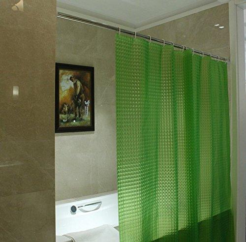 Vi.yo Rideau de Douche, Imperméable et Anti-moisissure, Rideaux de Salle de Bains EVA Transparents, 180 * 180 cm (Vert)