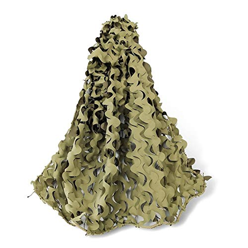 ZHEYANG Yellow Camouflage Netting Camping Shooting Flame Retardant Camo Hunting Hide Nets With Firm Rope (Size : 4x6m)