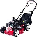 Cortacésped de gasolina autopropulsado, altura ajustable de ocho capas, bajo nivel de ruido, ahorro de combustible, adecuado para céspedes de jardín red,20lnch