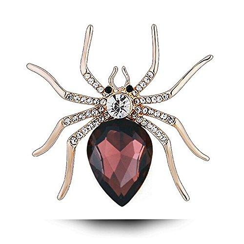 MeiPing Broche de araña de araña de araña de Halloween para Mujer