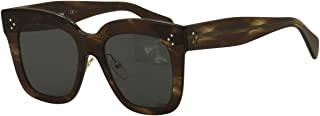 Celine CL41444/S 07B Havana Brown Kim Square Sunglasses Lens Category 3 Size 51