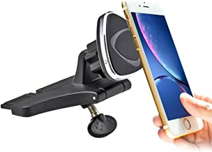 Car Phone Mount, CD Slot Magnetic Phone Mount (Hand-Free) with 360 Degree Rotation Car Phone Holder Mount for iPhone Xr Xs Max X 8s 8s Plus 7s 7s Plus 6s, Samsung Galaxy, Nokia and All Cell Phones
