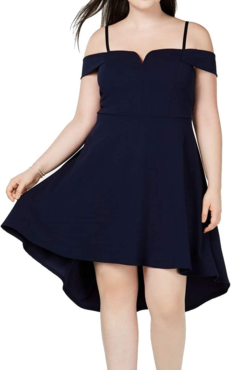 City Studio Dallas Mall Womens Plus Hi-Low All items in the store Dress Cocktail Fit Flare