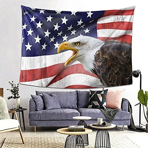 MATEKULI Tapiz,Águila, en, primer plano, bandera, orgullo, historia, solidaridad, marcial, identidad, símbolo,Decoración de la Pared Manta Arte de la Pared Tapiz Dormitorio Sala de Estar