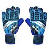 Guantes de Portero Adulto, Goalkeeper Gloves Antideslizante | Látex Excelente | Protección para los Dedos | Fuerte Agarre - OBBSEN
