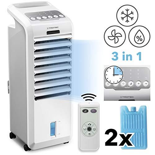 TROTEC PAE 26 Aircooler Mobiles Klimagerät 3-in-1 Luftkühler Ventilator Lufterfrischer Klimaanlage (3 Gebläsestufen, Timer, Nacht-Modus, Naturwind-Modus, uvm.)