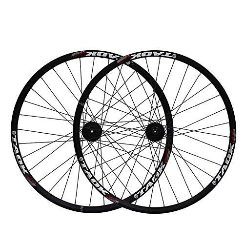 XIAOFEI Mountainbike-Rad, 475 Six Nail Lock Scheibenbremse 26-Zoll-Doppelfelgenrad, EIN Paar Schwarze 36 Löcher, hochfeste Aluminiumlegierung,C