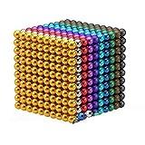 JGSDHIEU Magic Ball für Tafel, Magic Building Ball Toys, 3/5 mm Magic Building Blocks für Intelligenzentwicklung und Stressabbau