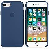 Funda para iPhone 7/8 Carcasa Silicona Suave Colores del Caramelo con Superfino Pelusa Forro,Anti-rasguños Teléfono Caso para Apple iPhone 7/8 (iPhone 7/8, Azul Cobalto)