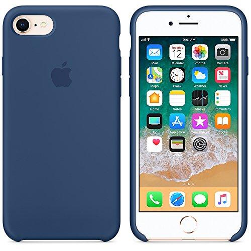 Funda para iPhone 7/8 Carcasa Silicona Suave Colores del Caramelo con Superfino Pelusa Forro,Anti-rasguños Teléfono Caso para Apple iPhone 7/8 (Azul Cobalto)