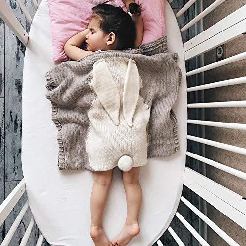 SHIN Swaddle Deken Unisex Knit Pasgeboren Slaapzak Baby Wikkel Deken Kinderwagen voor 0-12 Maanden Baby Meisjes Jongens 73 * 108cm