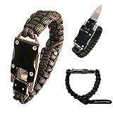 Bracelet de taille ajustable de poignet de corde de survie de corde de survie de...