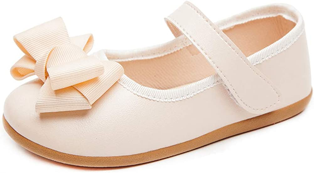 N/P Joeupin Girls Bow School Shoes Mary Jane Flats Wedding Party Flower Girl Dress Shoes