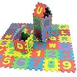 Puzzlematte für Babys und Kinder, Spielmatte,Lernmatte, Kinderspielmatte, Schaumstoffmatte, Spielzeug für die frühkindliche Bildung, Lernspielzeug Geschenk,36 Stück (12x12cm)