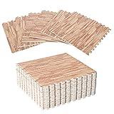 alfombra puzzle madera