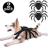 2 Piezas de Disfraces de Araña de Mascotas de Halloween Disfraces de Araña Peluda Gigante Cosplay para Accesorios de Decoracón de Disfraces de Gatos Perros Fiesta de Halloween ()