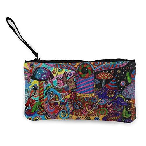 Kleurrijke psychedelische Trippy kunst-armband-koppelings-portemonnee voor vrouwen meisjes, dunne handtassen-portemonnee dames-koppeling-portemonnee-compacte handportemonnee-enorme opslagcapaciteit