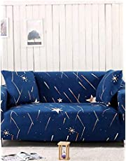 4-Seater Star Design Sofa Cover Blue 230x300 centimeter