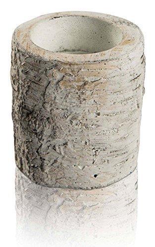 CHICCIE Birke Teelichthalter Sockel - 9cm - In Baumstammoptik - Kerzenhalter Kerzenständer