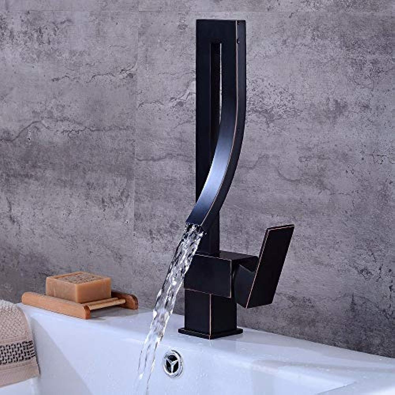 Küchenarmaturen Europische Schwarzbronze Einhand 360 ° drehbar Küchenarmatur, warmes und kaltes Mischen Kitchen Sink Wasserhahn