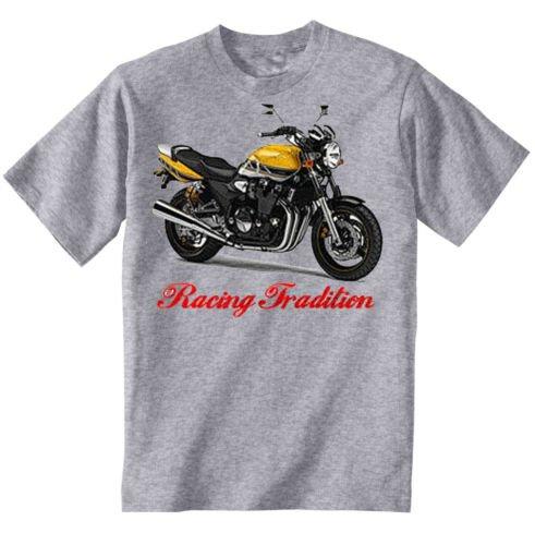 TEESANDENGINES Yamaha XJR 1300 Inspired Camiseta Gris para Hombre de Algodon Size Large