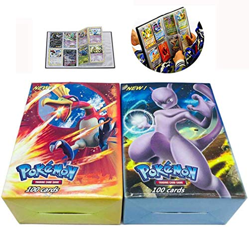 zyl 200 Pcs Pokemon GX EX Pokemon-Karte Magischer Elf,MEGA Energy Trainer Karten ,Flash Card, Sammelkarte, Puzzle Fun Card Game,Flash-Karte,200GX-189Gx+11Trainer