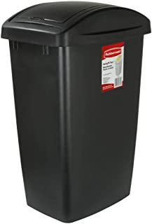 Rubbermaid Swing-Top Lid Recycling Bin for Home, Kitchen, and Bathroom, 12.5 Gallon, Gray