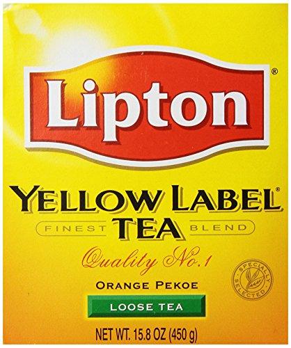 Lipton Yellow Label Orange Pekoe Loose Tea, 15.8. OZ (Pack of 6)
