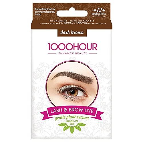 1000 HOUR 1000HOUR Plant Based Lash & Brow Dye Kit - Dark Brown,