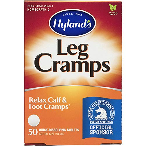 Hyland's Leg Cramps Tablets, Natural Relief of Calf, Leg and Foot Cramp, 50 Count