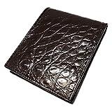 財布 二つ折り クロコダイル 腹 ブラウン 革財布 メンズ レディース