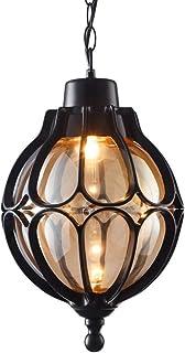 SXXYTCWL Pendentif Moderne Light Pendentif de Plafond Noir de Casting Brillant E27 Exceptor EMPOND EMPONDABLE Lampe Chaîne...