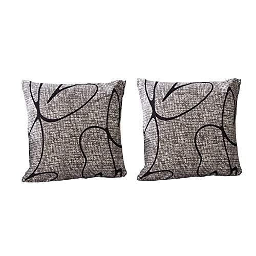 XHNXHN Funda elástica para sofá de 2 piezas de fundas de cojín – fundas de almohada de poliéster elástico impreso – Funda universal ajustable para sofá, color gris